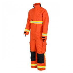 FLAMEPRO 637 Fire Fighter Coverall Kermel Aramid, Orange