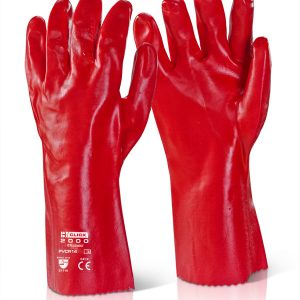 Safety gloves 605204 (red heavy PVC, 35 cm), size 10 PVCR14