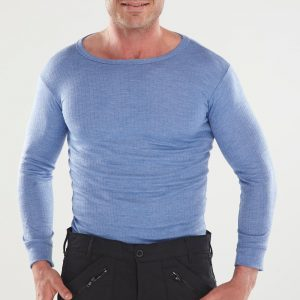 LONG SLEEVE THERMAL VEST BLUE  Beeswift