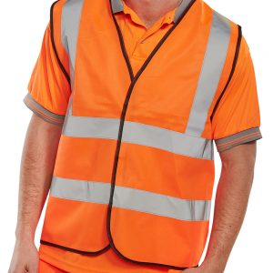 Beeswift HI VIZ WAISTCOAT FULL APP. G ORANGE
