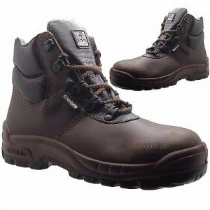 JALLATTE 00J0672 S3 Leather Safety Toe Cap Shoes Work Boots Sz